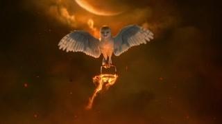 索伦带着火苗飞上天