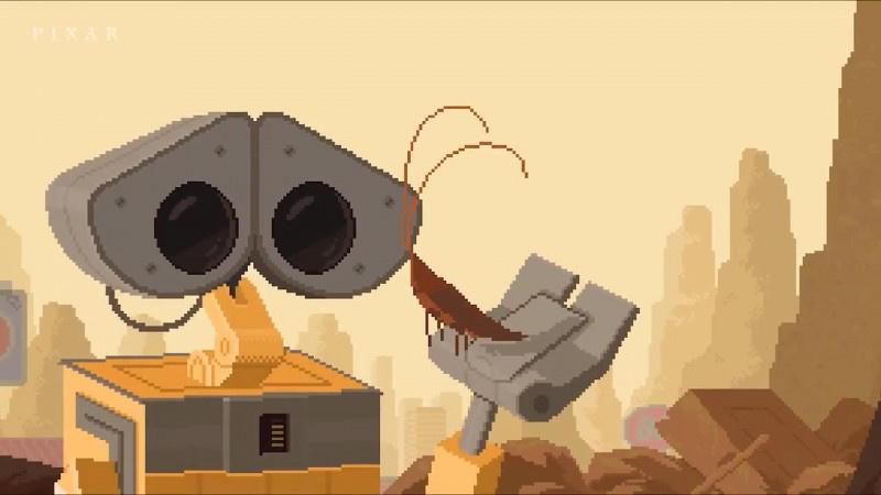 皮克斯分享《机器人总动员》16比特动画短片