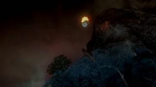 索伦带着火团冲入神秘蓝光