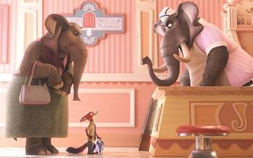 《疯狂动物城》片段 大象冰淇淋
