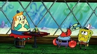 海绵宝宝撮合泡芙阿姨与蟹老板认识  蟹老板紧张到不会说话