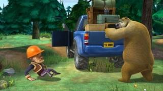 糟老头光头强怕熊二   直接推倒