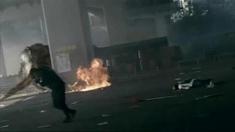 汉江怪物 精彩片段之火烧怪兽