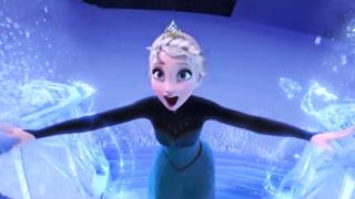 爱莎创造超美冰雪城堡