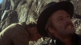 小霸王被追无奈 弃马爬上山崖跳下深涧逃生