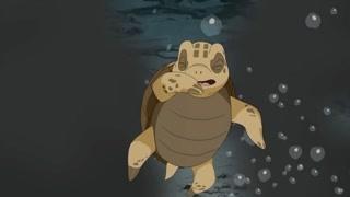 泰迪小乌龟为救吉多宝遭火山灰迷晕 幸好美人鱼及时赶到