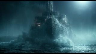 轮船重新点燃起希望和生机,悬浮在海面行驶