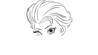 儿童简笔画教程 《冰雪奇缘》中的女主角艾尔莎