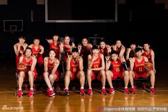中国女篮官方写真姑娘们英姿飒爽