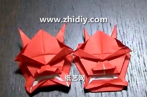 表情 万圣节面具折纸 折纸人 表情