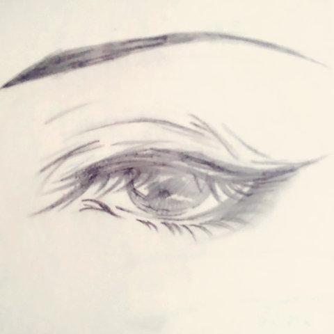 表情 手绘古风眼睛教程 绘画和手绘画 晗流 手绘 的美拍 表情图片