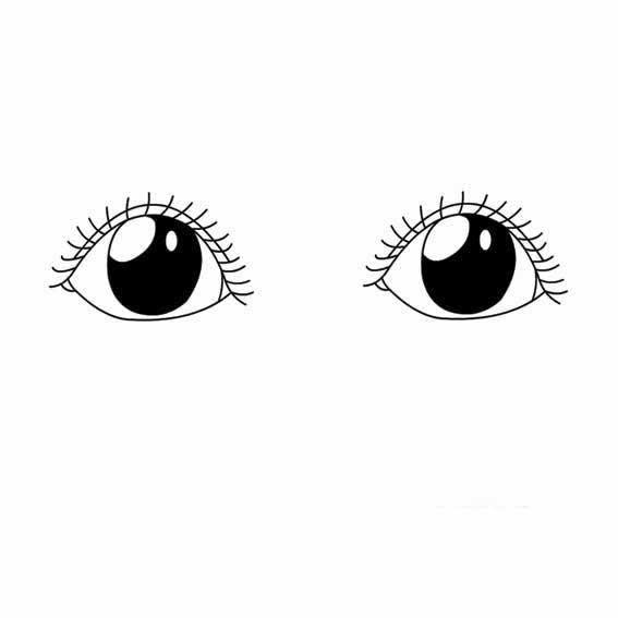 表情 女孩眼睛的画法 育才简笔画 表情