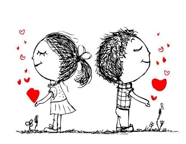表情 手绘小人情侣简笔画 12张 3 情侣图片 表白图片网 表情