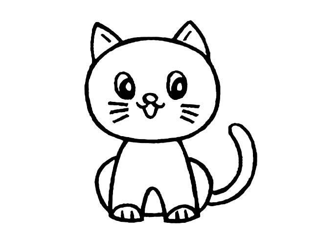 表情 卡通可爱小猫简笔画,绘画图片,儿童文艺 绘艺素材网 表情