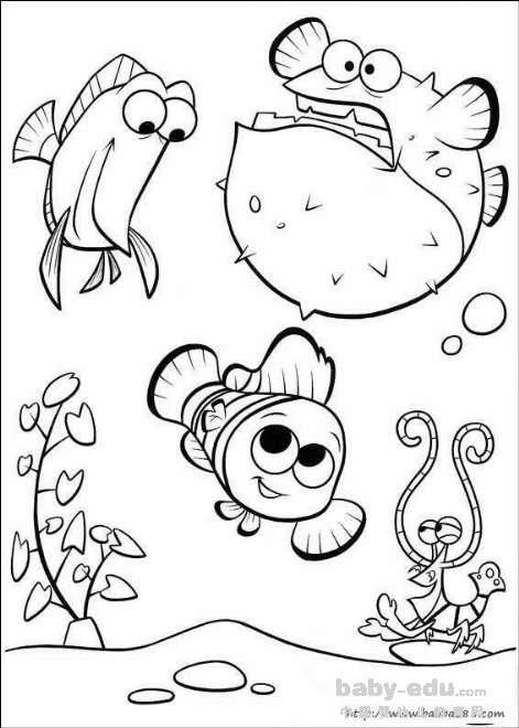 表情 卡通动画简笔画 可爱的小鱼 卡通简笔画 中国婴幼儿教育网 表情