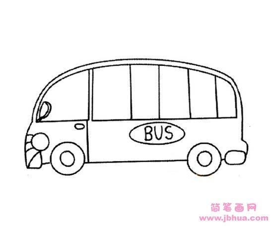 表情 儿童公共汽车简笔画 简笔画网 表情