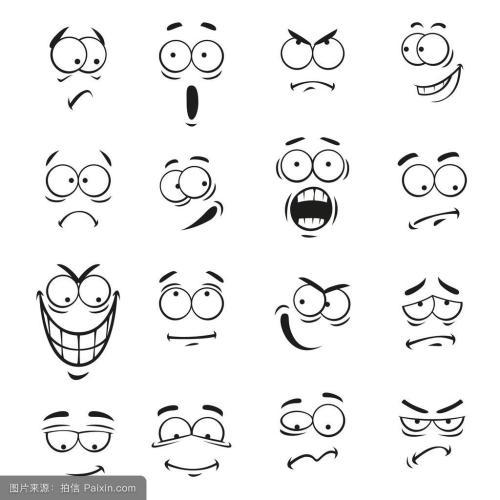 表情 害怕表情的简笔画 害怕的简笔画 生表情的简笔画 害怕的简笔画表情图片  表情
