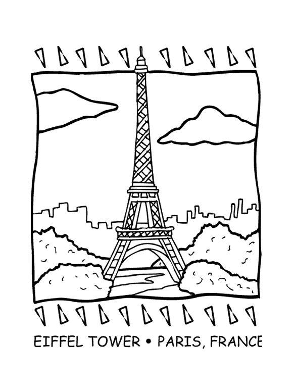表情 埃菲尔铁塔简笔画 游埃菲尔铁塔 埃菲尔铁塔简笔画 教育 太平洋亲子网 表情