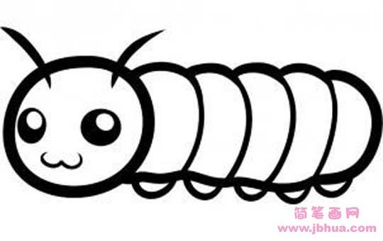 表情 关于毛毛虫的简笔画 简笔画网 表情