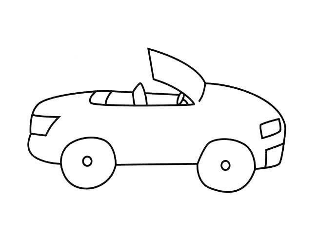 表情 敞篷汽车简笔画,绘画图片,儿童文艺 绘艺素材网 表情