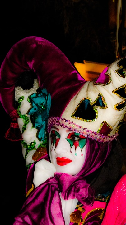面具, 组成, 街头剧场, 脸, 表情, 假面舞会, 丑角, 中世纪节 ..