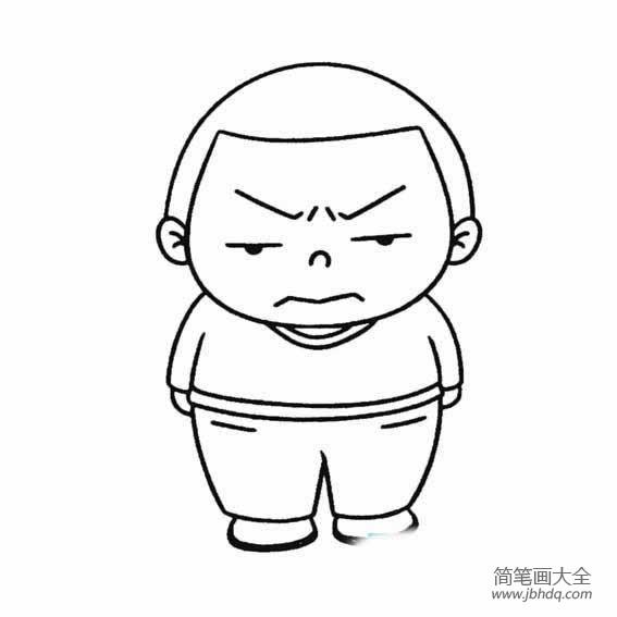 表情 生气的男孩简笔画怎样画 小男孩简笔画 简笔画大全 表情