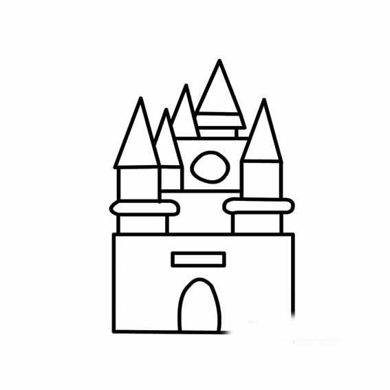 表情 建筑简笔画 房屋简笔画 建筑房屋简笔画 幼儿房屋简笔画图片大全 表情
