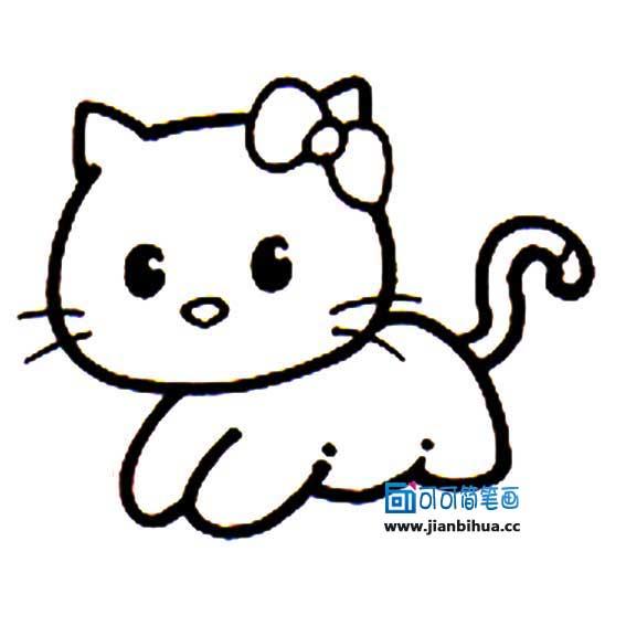 表情 卡通小猫简笔画 2 可可简笔画 表情