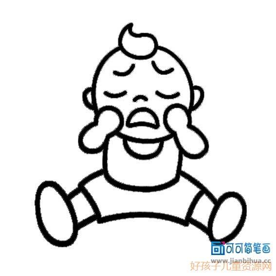 表情 哭简笔画,哭的简笔画画法 人物简笔画 ertongzy.com 表情