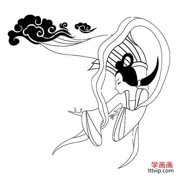 表情 卡通儿童嫦娥奔月简笔画大全 学画画网 表情