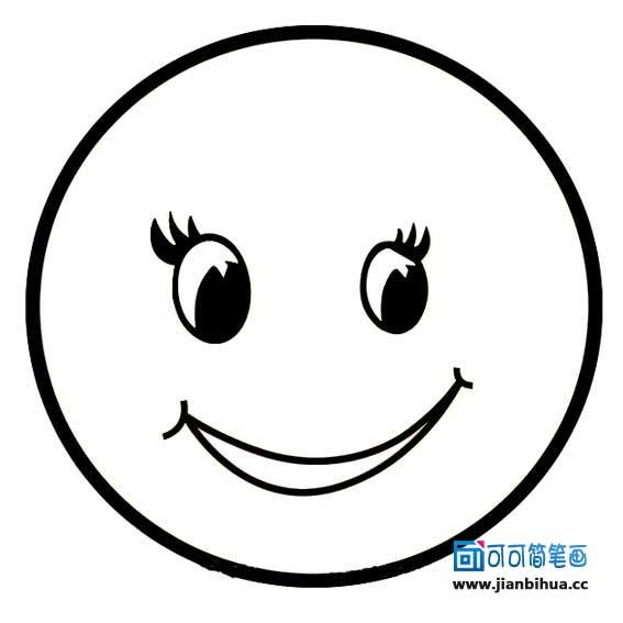 表情 最美笑脸简笔画 好看的画大全 表情