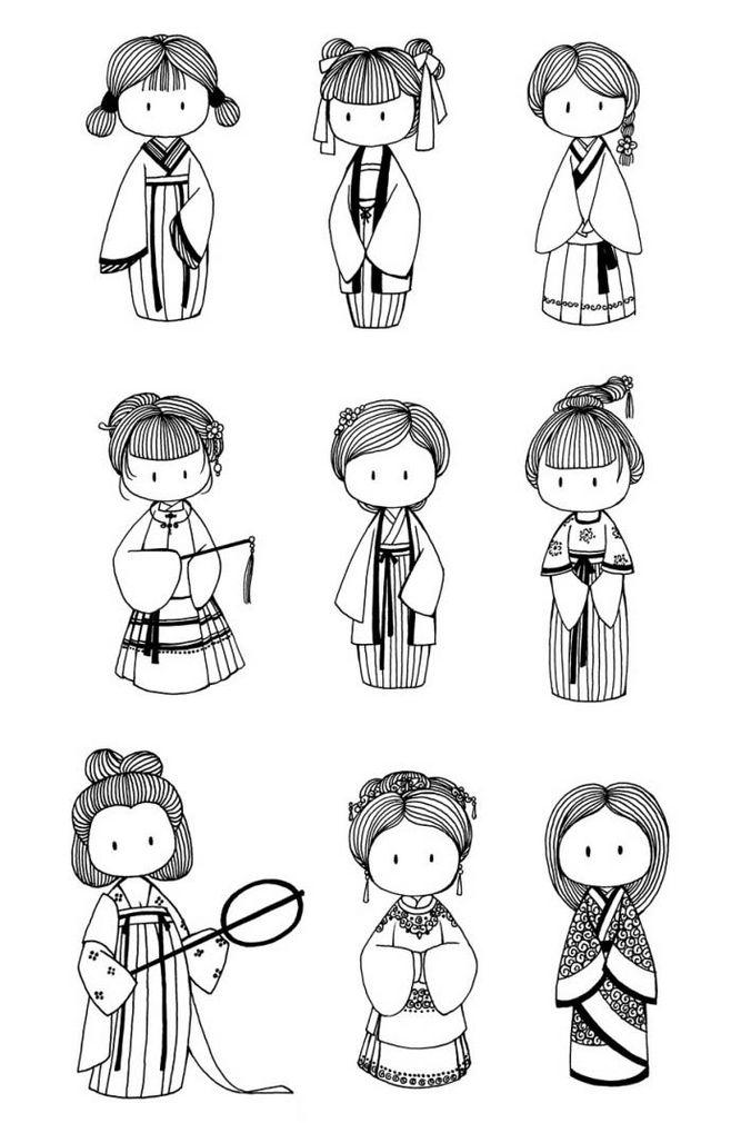 表情 可爱萌萌的小人简笔画 9张 简笔画 表白图片网 表情