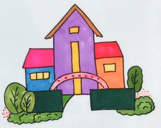 表情 房子简笔画图片彩色房子简笔画视频教程 素描自学网 表情