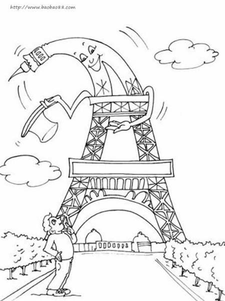 表情 埃菲尔铁塔简笔画 埃菲尔铁塔游记 埃菲尔铁塔简笔画 教育 太平洋