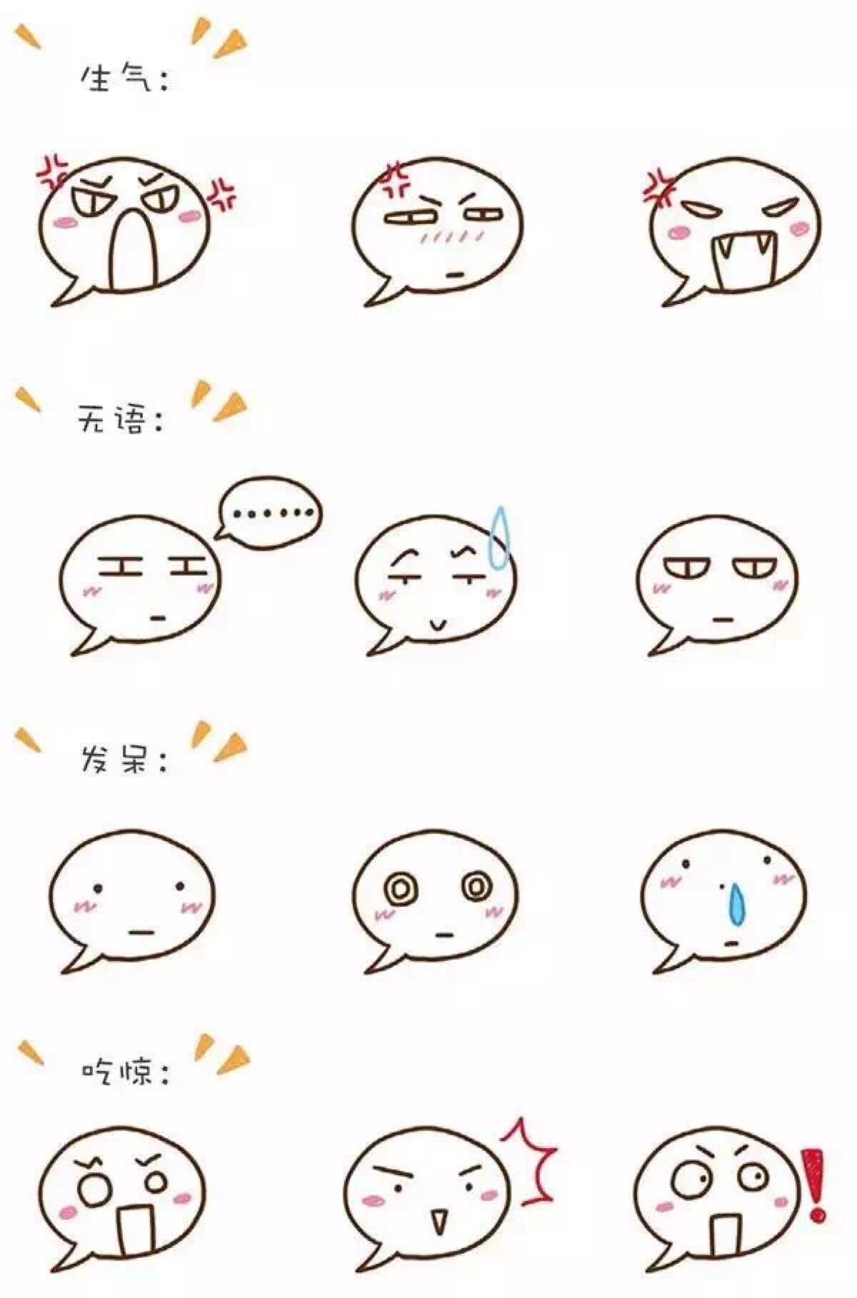 表情 生气 五语 发早 吃吃惊 表情