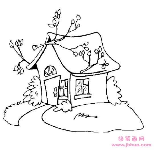 表情 大树房子简笔画图片 简笔画网 表情