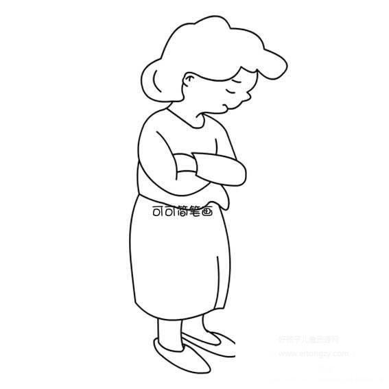 表情 生气的妈妈简笔画,生气的妈妈的简笔画画法 人物简笔画 ertongzy.com 表情