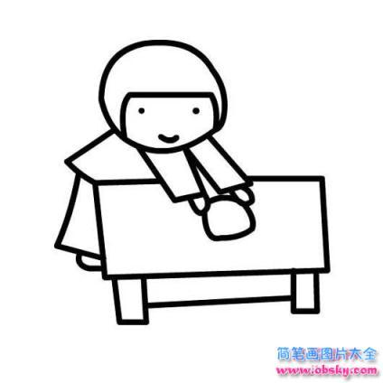 表情 怎么画幼儿五一劳动节 擦桌子的小女孩简笔画的教程 五一劳动节简笔画  表情