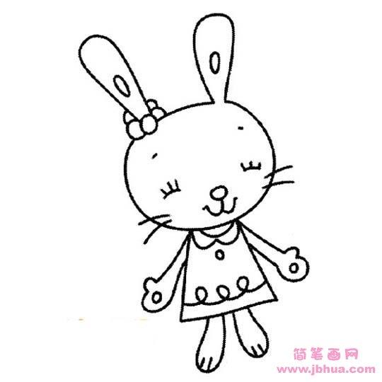 表情 可爱漂亮的卡通小兔子 简笔画网 表情