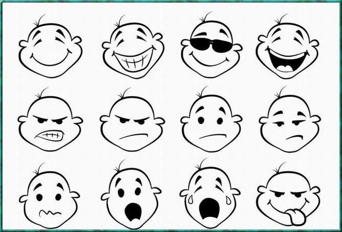 表情 表情简笔画图片大全 简笔画好玩人物表情的画法 腾博会娱乐,腾