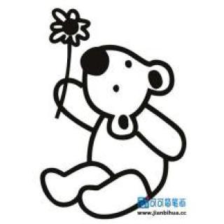 萌可爱卡通小熊简笔画 头像图片表情包大全 表情