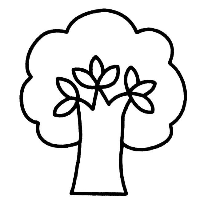 表情 大树简笔画图片小逗汇智幼教网 表情