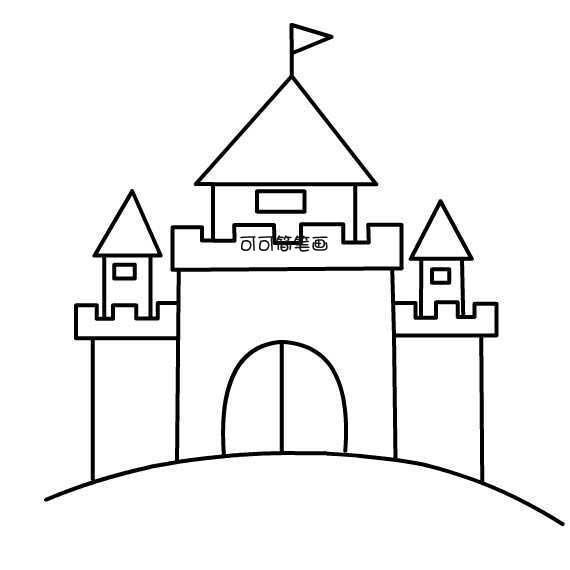 表情 城堡简笔画 简笔画大全卡通人物,一笔画作品 千叶帆文摘 表情