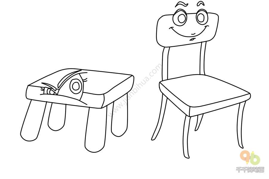 表情 表情包板凳和椅子简笔画简笔画大全千千简笔画图片教程 表情