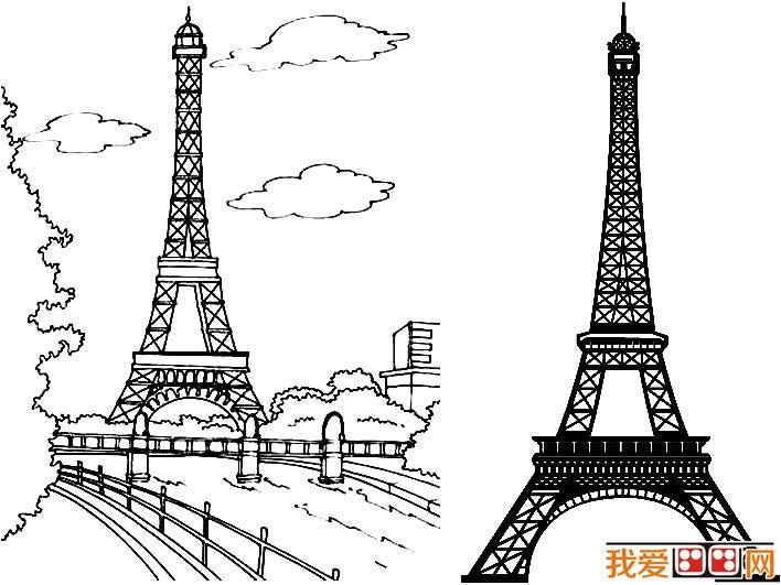 表情 巴黎铁塔素描简笔画 3 简笔画 艺美术 表情