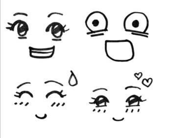 表情 高兴表情简笔画 好可惜表情简笔画 开心表情简笔画手画 高兴的笑脸黑白简  表情