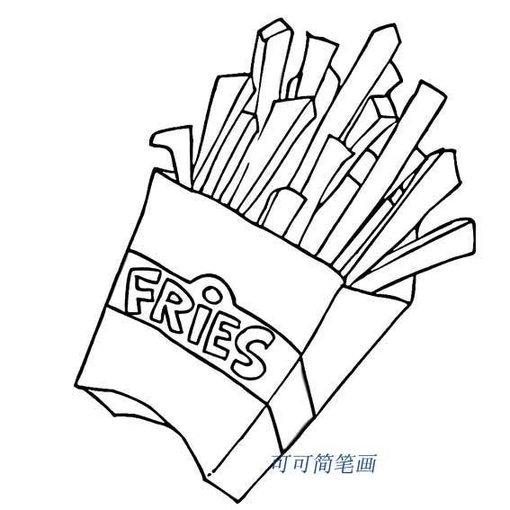 表情 香香的炸薯条简笔画 27270儿童画 表情