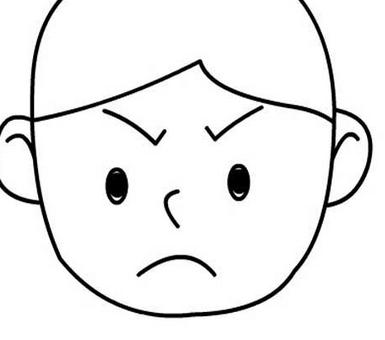 生气表情图片简笔画 18张 表情图片 表白图片网 表情