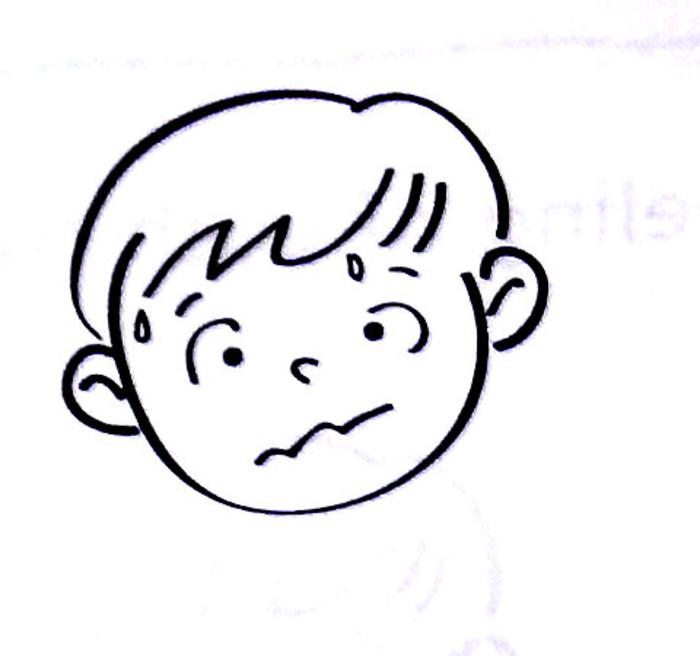 担心的表情图简笔画 18张 表情图片 表白图片网 表情