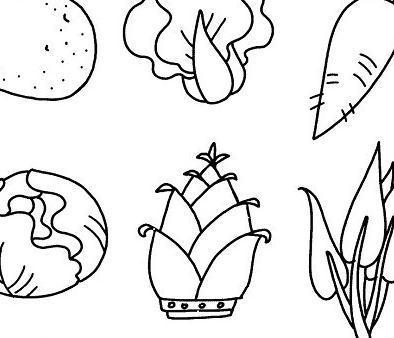 表情 卡通蔬菜水果简笔画,绘画图片,儿童文艺 绘艺素材网 表情